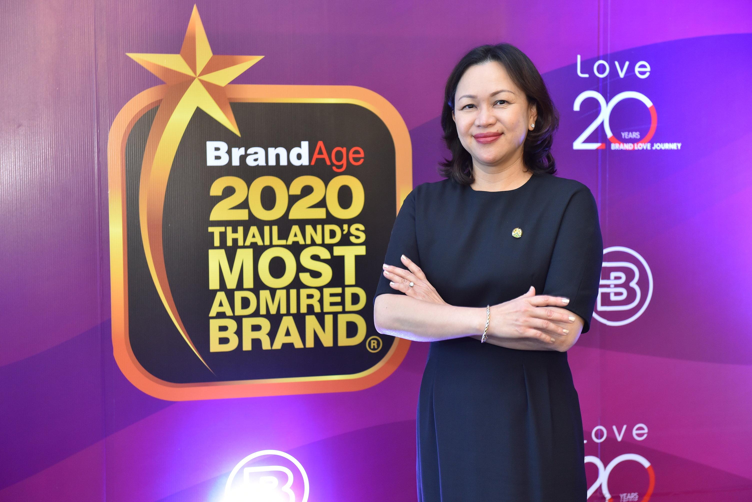 """บริษัท ดอยคำผลิตภัณฑ์อาหาร จำกัด ได้รับรางวัล """"2020 Thailand's Most Admired Brand"""" จาก นิตยสาร BrandAge 3 ปีซ้อน"""
