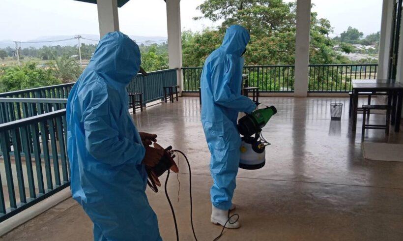 """""""ดอยคำ"""" ใส่ใจป้องกันไวรัสโคโรนา (COVID-19) ฉีดพ่นยาฆ่าเชื้อป้องกันการแพร่ระบาด"""